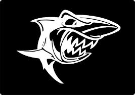 Amazon Com Shopforallyou Stickers Decals Silver Great White Shark Cartoon Scary Jaws Fish Vinyl Decal Sticker Car Truck Window Clothing