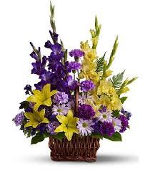 funeral flowers funeral basket in