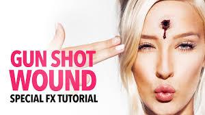 gun shot wound sfx makeup tutorial