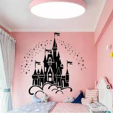 Cartoon Castle Wall Decals Vinyl Kids Room Decor Under The Stars Castle Wall Sticker For Girls Bedroom Decoration Wallpaper Z570 Wall Stickers Aliexpress