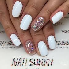 y short nails design with dark color