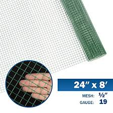 Fencer Wire 19 Gauge Green Vinyl Coated 12 Hardware Cloth Vegetables Garden Rabbit Fencing Snake Fence For Chicken Run Critters Gopher Racoons Opossum Rehab Cage Wire Window 24 X 96 Buy