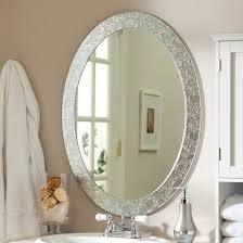 oval bathroom decoration wall mirrors
