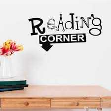 Reading Corner Wall Sticker For Classroom Vinyl Decal Library Bookstore Decor Modern Home Decoration Art Mural Creative Baby Wall Decals Baby Wall Sticker From Joystickers 11 75 Dhgate Com