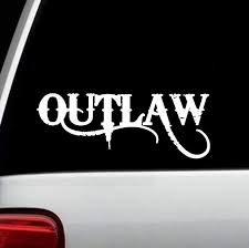 Amazon Com Outlaw Vinyl Decal Sticker For Car Window D1045 Home Kitchen