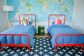 Red And Blue Kids Bedroom Design Contemporary Boy S Room