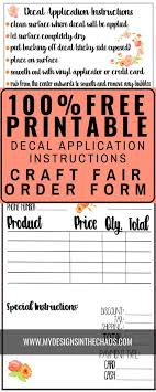 Decal Application Instructions Printable My Designs In The Chaos Printable Vinyl Diy Vinyl Projects Cricut Projects Vinyl