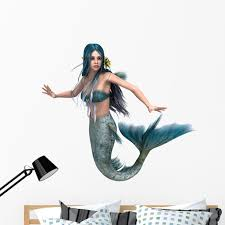 Mermaid Wall Decal Sticker By Wallmonkeys Vinyl Peel And Stick Graphic 48 In W X 43 In H Walmart Com Walmart Com