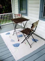 diy rug from a drop cloth little