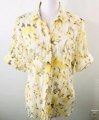 khakis blouse size xl fl sheer