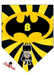 Banderines De Batman Con Alfabeto Para Imprimir Gratis Oh My