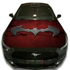 Vinyl Car Hood Wrap Full Color Graphics Decal Batman Red Sign Custom Sticker Ebay