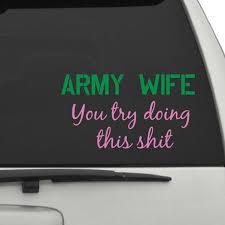 Army Wife Car Decals The Decal Guru