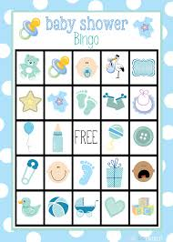 bingo para baby shower de niño para
