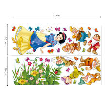 Decalmile Snow White And The Seven Dwarfs Wall Decals Princess Wall Stickers Peel And Stick Removable Vin Removable Vinyl Wall Art Vinyl Wall Art Wall Stickers