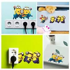 Minion Wall Stickers Switch Sticker 30 60cm Despicable Me 2 Removable Gifts Leads