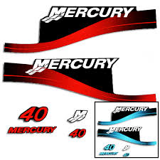 Product Mercury 40hp 2 Stroke Decal Kit Red Sticker Decal