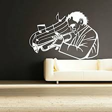 Trumpet Music Wall Sticker Vinyl Art Removable Bedroom Decal Decor