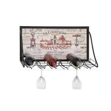iron 6 bottle wall mounted wine rack