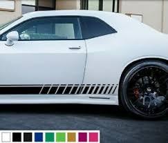 Decal Vinyl Sticker Side Stripes For Dodge Challenger Rt Door Hood Racing Sport Ebay
