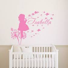 Girl Dandelion Butterfly Vinyl Wall Stickers Customized Colour Name Decal Decor High Quality Wall Decal Hot Sale Mural Sa298 Vinyl Wall Stickers Butterfly Vinyl Wall Stickersname Wall Stickers Aliexpress