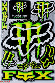 Green Monster Claws Sticker Decal Supercross Motocross By Raciraci Monster Energy Supercross Monster Energy Fox Racing