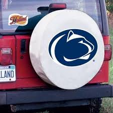 Team Sports Covers Penn State Tire Cover With Nittany Lions Logo On White Vinyl