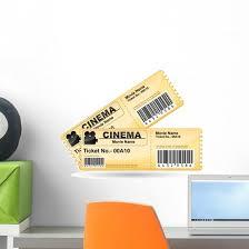 Movie Ticket Cinema Wall Decal Wallmonkeys Com