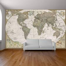 World Map Wall Paper Mural Self Adhesive Old Style World Map Globe Wall Decal Photo Mural Art Decal Ancient World Map Wall Sticker Vinyl Impression