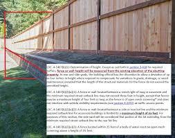Construction Of Fences Community Development Department