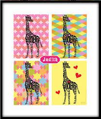 gifts kids personalized giraffe framed art