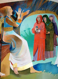 Passato il sabato, Maria di Màgdala, Maria madre di Giacomo e ...