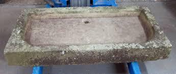 carved stone garden sink 4429 lot 210