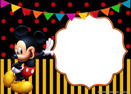 Free Printable Cheerful Mickey Mouse Birthday Invitation