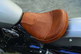 leather or vinyl motorcycle seat