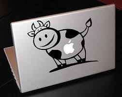 Mac Cow Decal Etsy
