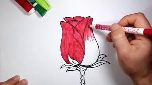 رسم وردة بالخطوات للمبتدئين تعلم الرسم Youtube