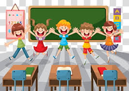 Five children's jumping animated illustration, Student School ...