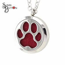 dog cat pawprint aromatherapy locket