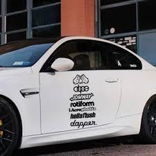 Beauty Dapper Sentence Stickers On The Car Vinyl Cars Decal Custom Window Door Wall Sticker Car Stickers Aliexpress