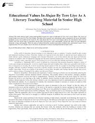 pdf educational values in hujan by tere liye as a literary