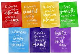 rainbow of diversity motivational posters set of seven