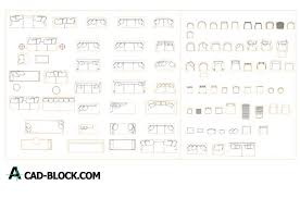 cad sofa and chair dwg free