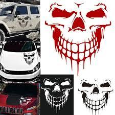 Fashion Skull Hood Decal Vinyl Large Graphic Sticker Car Truck Tailgate Window Car Skull Sticker Wish