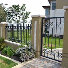 China Price Small Garden Yard Outdoor Front Iron Fence Design Ifg 17 Photos Pictures Made In China Com
