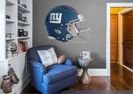 New York Giants Helmet Huge Officially Licensed Nfl Removable Wall Decal Patriotic Bedroom Boys Bedroom Wallpaper Diy Boy Bedroom