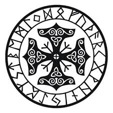 Viking Mjolnir Rune Talisman Black Vinyl Decal Etsy
