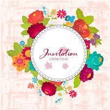 Ilustracion De Una Hermosa Frontera Floral Con Flores De Verano A