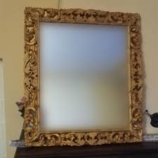 carved wooden mirror frame gold baroque