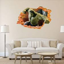 The Avengers Children Room Wall Stickers Creative 3d Effect Super Hero The Hulk Wall Stickers Decal Gift Wall Deals Wall Decal From Kity12 3 02 Dhgate Com